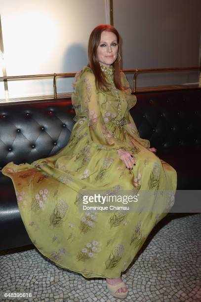Julianne Moore attends the 'L'Oreal Paris Dinner Hosted By Julianne Moore' as part of the Paris Fashion Week Womenswear Fall/Winter 2017/2018 on...
