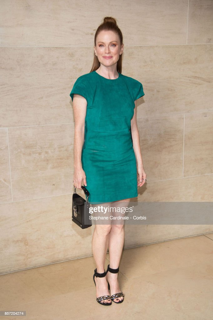 Julianne Moore attends the Louis Vuitton show as part of the Paris Fashion Week Womenswear Spring/Summer 2018 at Musee du Louvre on October 3, 2017 in Paris, France.