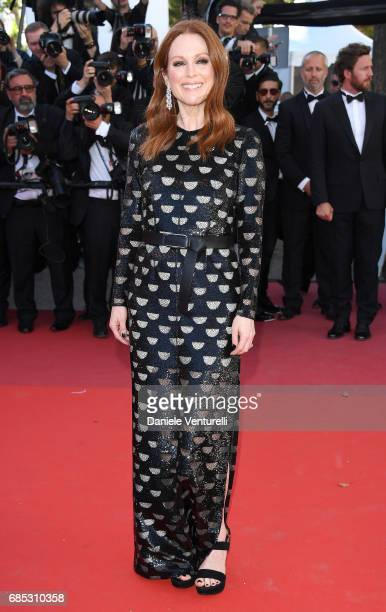 Julianne Moore attends the 'Okja' screening during the 70th annual Cannes Film Festival at Palais des Festivals on May 19 2017 in Cannes France
