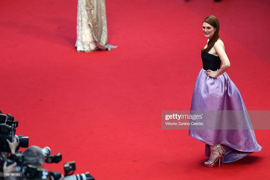<a gi-track='captionPersonalityLinkClicked' href=/galleries/search?phrase=Julianne+Moore&family=editorial&specificpeople=171555 ng-click='$event.stopPropagation()'>Julianne Moore</a> attends the Opening Ceremony and 'The Great Gatsby' Premiere during the 66th Annual Cannes Film Festival at the Theatre Lumiere on May 15, 2013 in Cannes, France.
