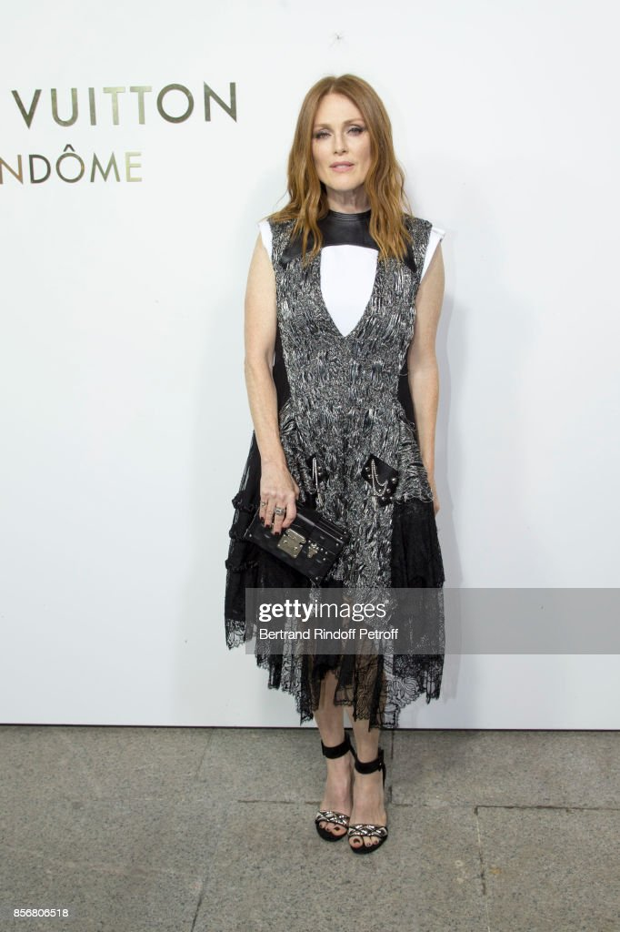 Julianne Moore attends the Opening Of The Louis Vuitton Boutique as part of the Paris Fashion Week Womenswear Spring/Summer 2018 on October 2, 2017 in Paris, France.