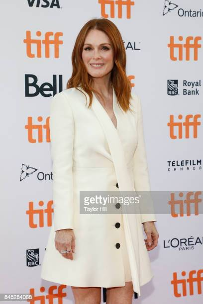 Julianne Moore attends the premiere of 'Suburbicon' during the 2017 Toronto International Film Festival at Princess of Wales Theatre on September 9...