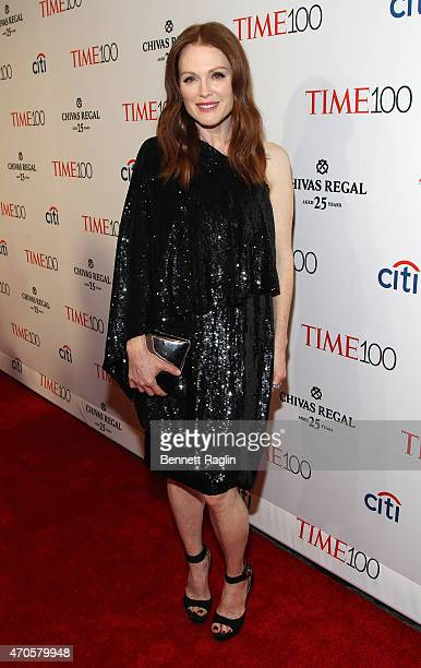 Julianne Moore attends the TIME 100 Gala TIME's 100 Most Influential People In The World at Jazz at Lincoln Center on April 21 2015 in New York City