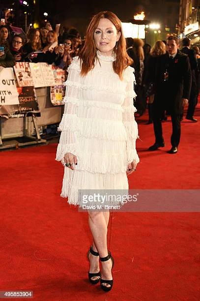 Julianne Moore attends the UK Premiere of 'The Hunger Games Mockingjay Part 2' at Odeon Leicester Square on November 5 2015 in London England