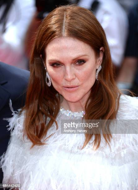 Julianne Moore attends the 'Wonderstruck ' screening during the 70th annual Cannes Film Festival at Palais des Festivals on May 18 2017 in Cannes...