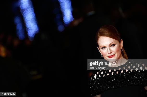 Julianne Moore attends the World Premiere of 'The Hunger Games Mockingjay Part 1' at Odeon Leicester Square on November 10 2014 in London England