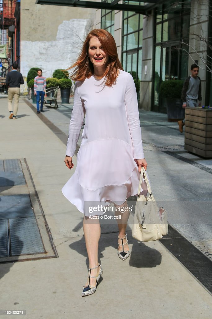 <a gi-track='captionPersonalityLinkClicked' href=/galleries/search?phrase=Julianne+Moore&family=editorial&specificpeople=171555 ng-click='$event.stopPropagation()'>Julianne Moore</a> is seen at Crosby Hotel on April 8, 2014 in New York City.