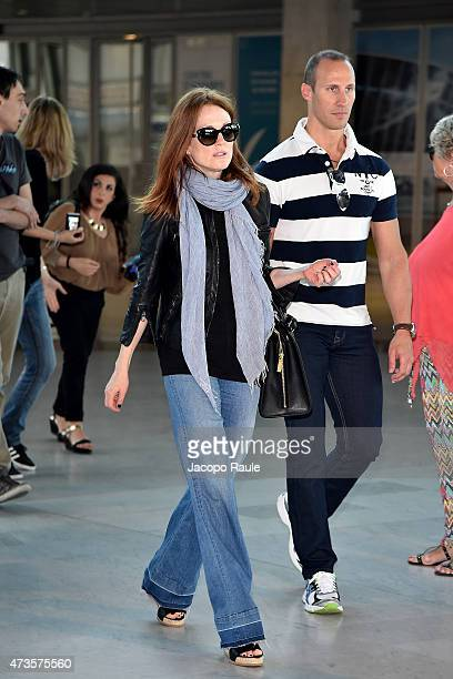 Julianne Moore is seen at Nice Airport during the 68th annual Cannes Film Festival on May 16 2015 in Cannes France