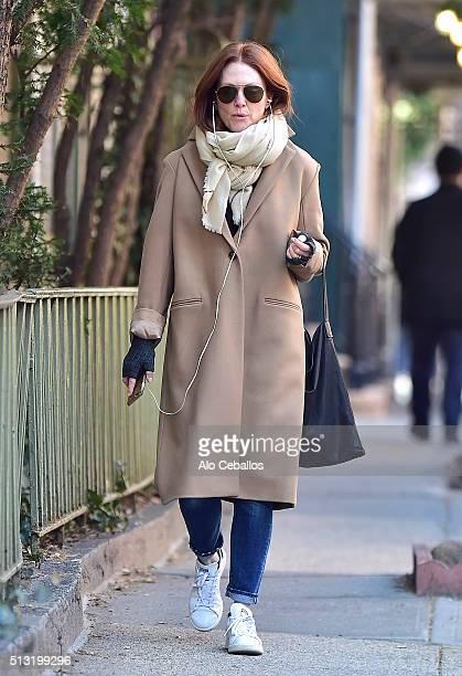 Julianne Moore is seen in the West Village on March 1 2016 in New York City