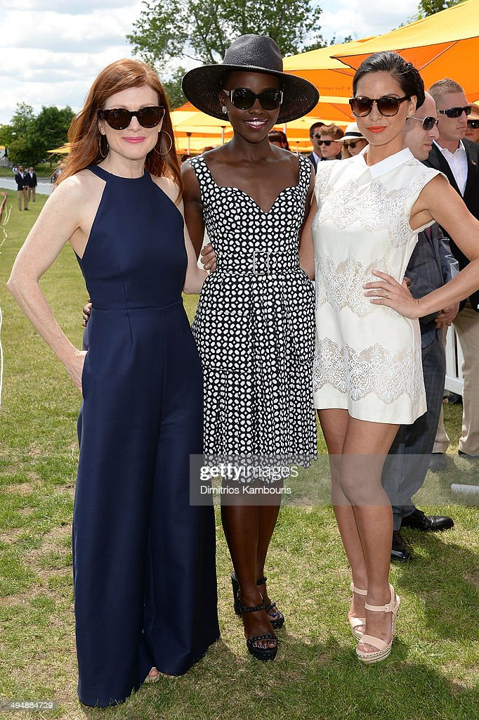 Julianne Moore, Lupita Nyong'o and Olivia Munn attends the seventh annual Veuve Clicquot Polo Classic in Liberty State Park on May 31, 2014 in Jersey City City.