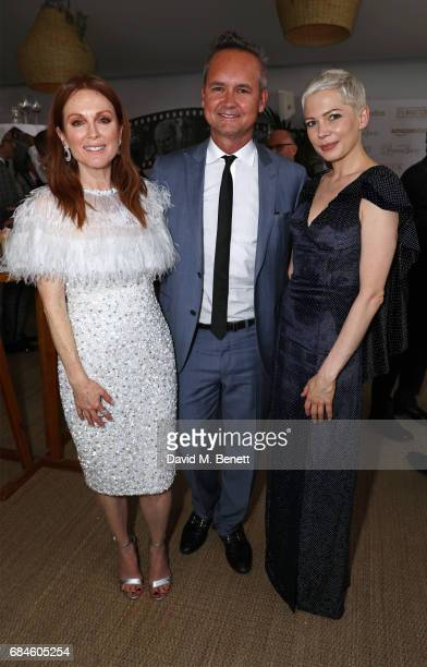 Julianne Moore Roy Price and Michelle Williams attend the Amazon Studios official after party for 'Wonderstruck' at the iconic Nikki Beach popup...