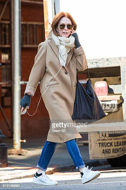 Julianne Moore seen chatting on the phone while out an about on March 1 2016 in New York City