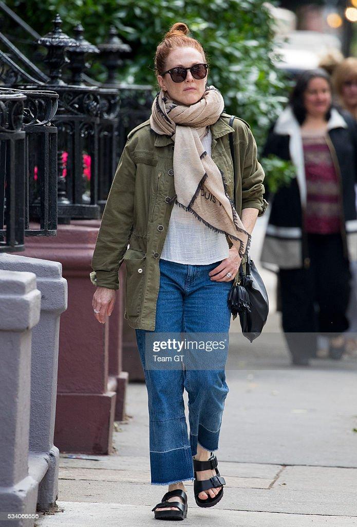 Julianne Moore seen on May 24, 2016 in New York City.