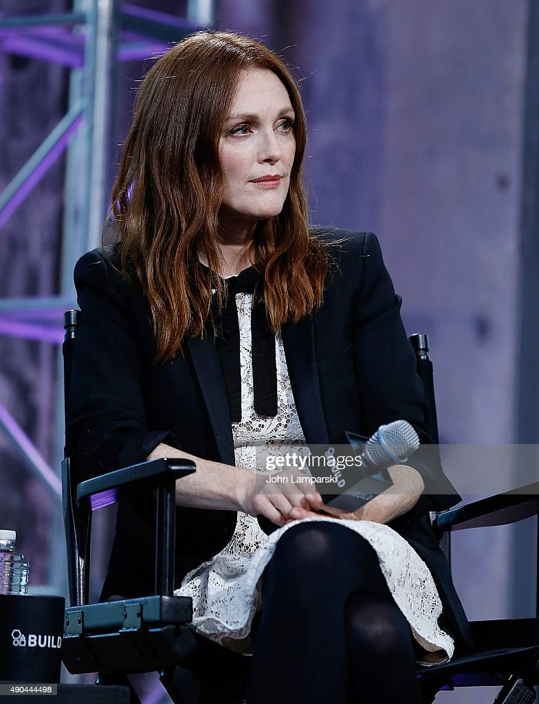 <a gi-track='captionPersonalityLinkClicked' href=/galleries/search?phrase=Julianne+Moore&family=editorial&specificpeople=171555 ng-click='$event.stopPropagation()'>Julianne Moore</a> speaks during 'Freeheld' AOL BUILD speaker series at AOL Studios In New York on September 28, 2015 in New York City.