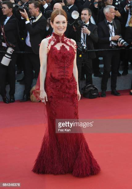 Julianne Moorer attends the 'Ismael's Ghosts ' screening and Opening Gala during the 70th annual Cannes Film Festival at Palais des Festivals on May...