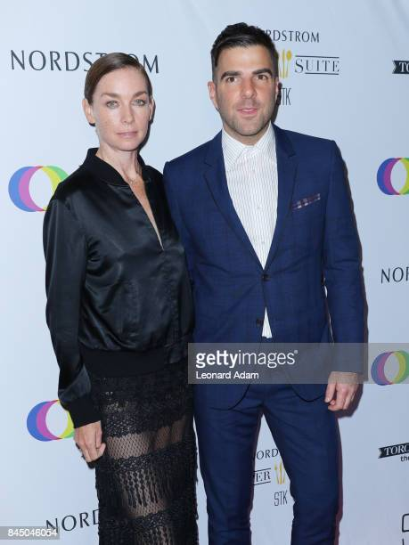 Julianne Nicholson and Zachary Quinto attend the 2017 Creative Coalition Spotlight Initiative Gala Awards Dinner at STK Toronto on September 9 2017...