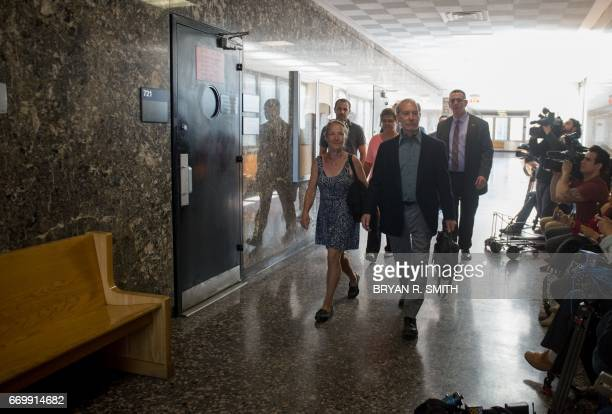 Julie and Stanley Patz arrive for the sentencing of Pedro Hernandez convicted for the 1979 kidnapping and murdering of their sixyearold son Etan Patz...