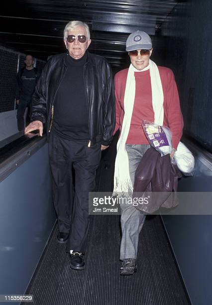 Julie Andrews and Blake Edwards during Julie Andrews And Blake Edwards Arriving At LAX From New York at Los Angeles International Airport in Los...