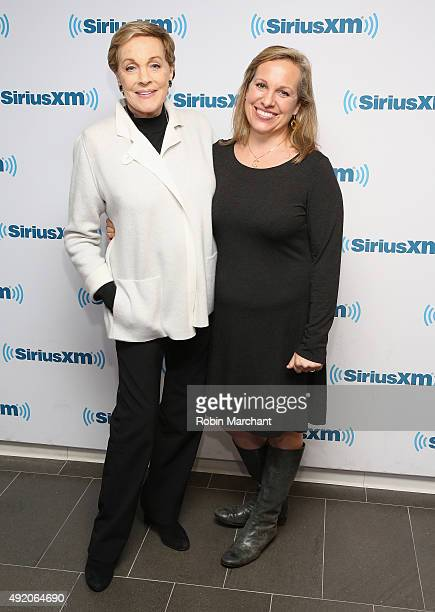 Julie Andrews and Emma Walton Hamilton visit at SiriusXM Studios on October 9 2015 in New York City