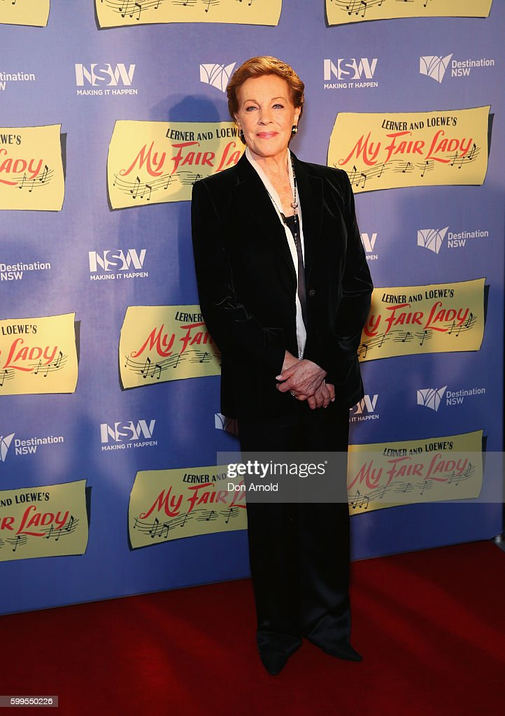 Julie Andrews arrives ahead of My Fair Lady opening night at Sydney Opera House on September 6, 2016 in Sydney, Australia.