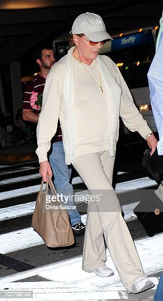 Julie Andrews arrives at Miami International Airport on July 10 2010 in Miami Florida