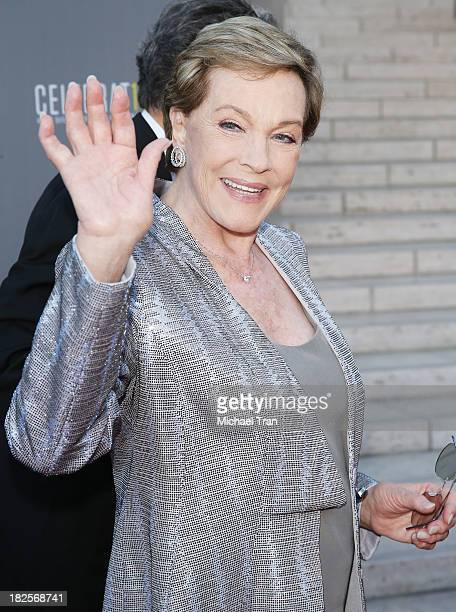 Julie Andrews arrives at LA Philharmonic's Walt Disney Concert Hall 10 Year Anniversary Celebration held on September 30 2013 in Los Angeles...