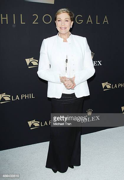 Julie Andrews arrives at The Los Angeles Philharmonic opening night concert and gala held at Walt Disney Concert Hall on September 30 2014 in Los...
