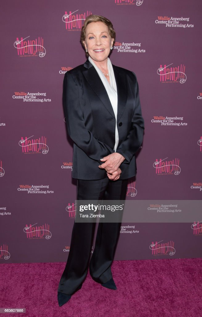 Julie Andrews arrives to Mancini Delivered - A Musical Tribute To Ginny And Henry Mancini at Wallis Annenberg Center for the Performing Arts on April 1, 2017 in Beverly Hills, California.
