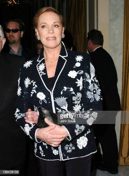 Julie Andrews during The Larry King Cardiac Foundation Gala at The Regent Beverly Wilshire Hotel in Beverly Hills California United States