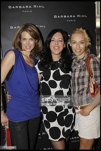 Julie Andrieu Barbara Rhil Alexandra Golovanoff at Inauguration Of First Boutique 'Barbara Rhil' In Paris