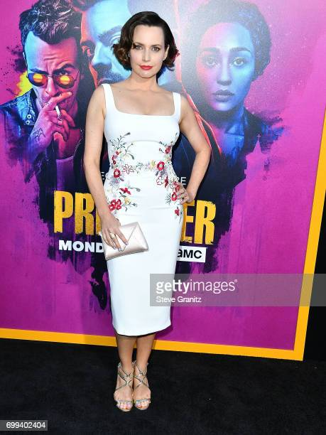 Julie Ann Emery arrives at the Premiere Of AMC's 'Preacher' Season 2 at The Theatre at Ace Hotel on June 20 2017 in Los Angeles California