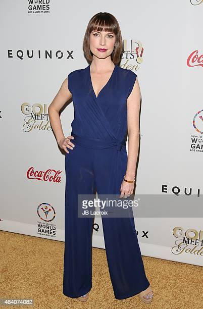 Julie Ann Emery attends the 3rd Annual Gold Meets Golden at Equinox Sports Club West LA on February 21 2015 in Los Angeles California