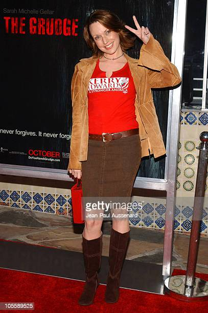 Julie Ann Emery during 'The Grudge' Los Angeles Premiere Arrivals at Mann Village in Westwood California United States