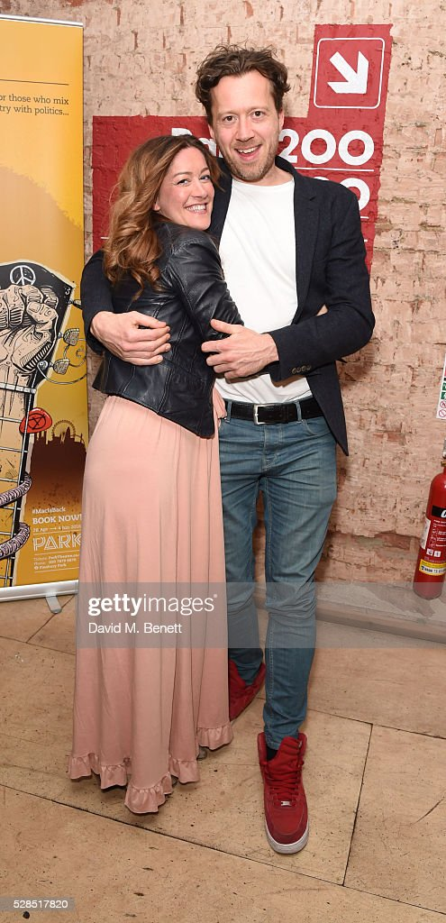 Julie Atherton and Jez Bond attend the World Premiere press night performance of 'The Buskers Opera' at The Park Theatre on May 5, 2016 in London, England.