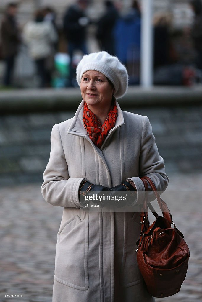 Julie Bailey, of the campaign group 'Cure the NHS', whose mother Bella, 86, died whilst she was a patient at Stafford General Hospital, arrives at the Queen Elizabeth II Conference Centre to read the report of the Mid Staffordshire NHS Trust Foundation Public Inquiry on February 6, 2013 in London, England. The report examines the commissioning, supervisory and regulatory bodies in the monitoring of Mid Staffordshire hospital between January 2005 and March 2009. The report will be laid before Parliament at 11:30am today and will consider the reasons why serious problems at the Trust were not identified and rectified sooner, and identify lessons to be learnt for future patient care.