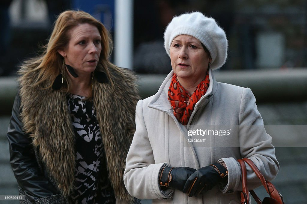 Julie Bailey (R), of the campaign group 'Cure the NHS', whose mother Bella, 86, died whilst she was a patient at Stafford General Hospital, arrives at the Queen Elizabeth II Conference Centre to read the report of the Mid Staffordshire NHS Trust Foundation Public Inquiry on February 6, 2013 in London, England. The report examines the commissioning, supervisory and regulatory bodies in the monitoring of Mid Staffordshire hospital between January 2005 and March 2009. The report will be laid before Parliament at 11:30am today and will consider the reasons why serious problems at the Trust were not identified and rectified sooner, and identify lessons to be learnt for future patient care.