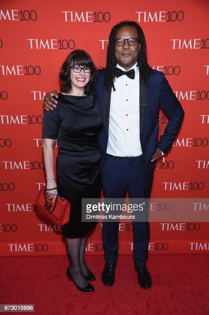 Julie Barer and author Colson Whitehead attend the 2017 Time 100 Gala at Jazz at Lincoln Center on April 25 2017 in New York City