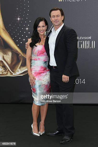 Julie Benz and Grant Bowler attend 'Defiance' photocall at the Grimaldi Forum on June 9 2014 in MonteCarlo Monaco