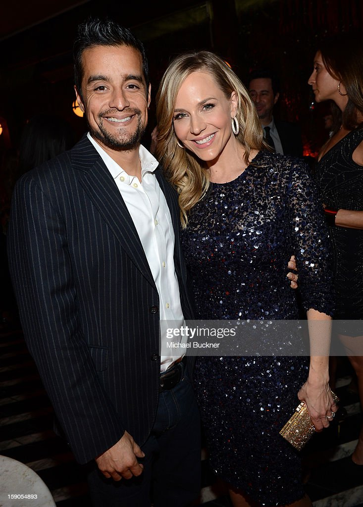 Julie Benz and husband Rich Orosco (left) attends the Audi Golden Globes Kick Off 2013 at Cecconi's Restaurant on January 6, 2013 in Los Angeles, California.
