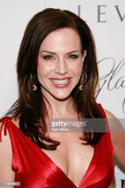 Julie Benz attends the book release party for Patrick McMullan's 'Glamour Girls' at The Terrace at the Sunset Tower Hotel on February 19 2008 in West...