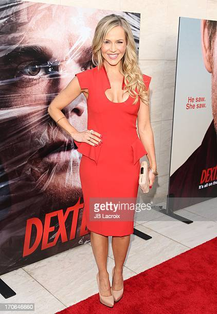 Julie Benz attends the 'Dexter' series finale season premiere party at Milk Studios on June 15 2013 in Hollywood California