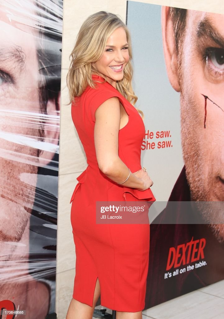 <a gi-track='captionPersonalityLinkClicked' href=/galleries/search?phrase=Julie+Benz&family=editorial&specificpeople=217554 ng-click='$event.stopPropagation()'>Julie Benz</a> attends the 'Dexter' series finale season premiere party at Milk Studios on June 15, 2013 in Hollywood, California.