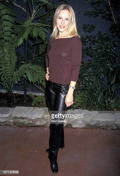 Julie Benz during EditorinChief Kate Betts Harper's Bazaar and Jessica Capshaw Welcome Mr Valentino to Los Angeles November 16 2000 in Los Angeles...