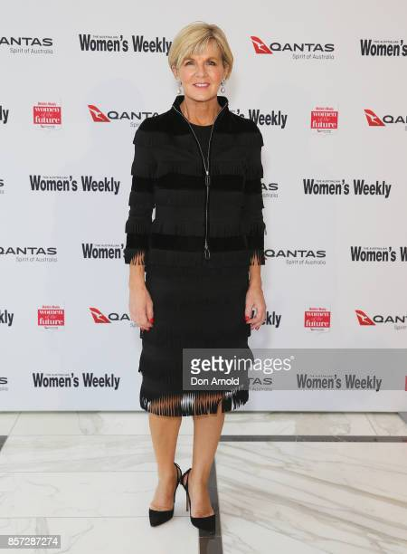 Julie Bishop arrives ahead of the annual Women of the Future awards on October 4 2017 in Sydney Australia