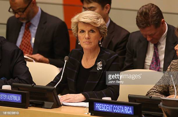 Julie Bishop Minister for Foreign Affairs of Australia attends the 68th session of the United Nations General Assembly on September 25 2013 in New...