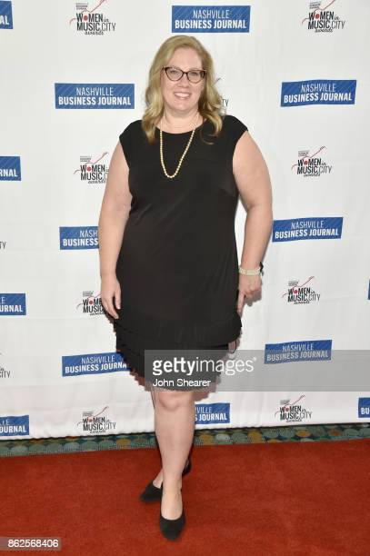 Julie Boos of Flood Bumstead McCready McCarthy arrives at the 2017 Nashville Business Journal Women In Music City on October 17 2017 in Nashville...
