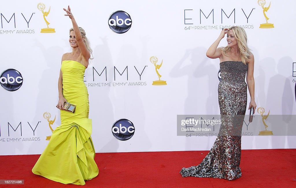 Julie Bowen and Jane Krakowski arrives at the 64th Primetime Emmy Awards held at Nokia Theatre L.A. Live on September 23, 2012 in Los Angeles, California.
