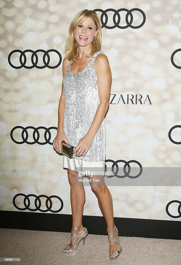 Julie Bowen arrives at the Audi and Altuzarra EMMYs week 2013 kickoff party held at Cecconi's Restaurant on September 15 2013 in Los Angeles...