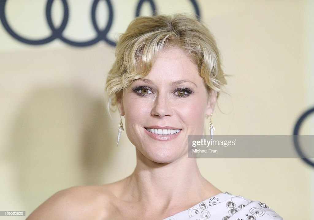 <a gi-track='captionPersonalityLinkClicked' href=/galleries/search?phrase=Julie+Bowen&family=editorial&specificpeople=244057 ng-click='$event.stopPropagation()'>Julie Bowen</a> arrives at the Audi Golden Globe 2013 kick off cocktail party held at Cecconi's Restaurant on January 6, 2013 in Los Angeles, California.