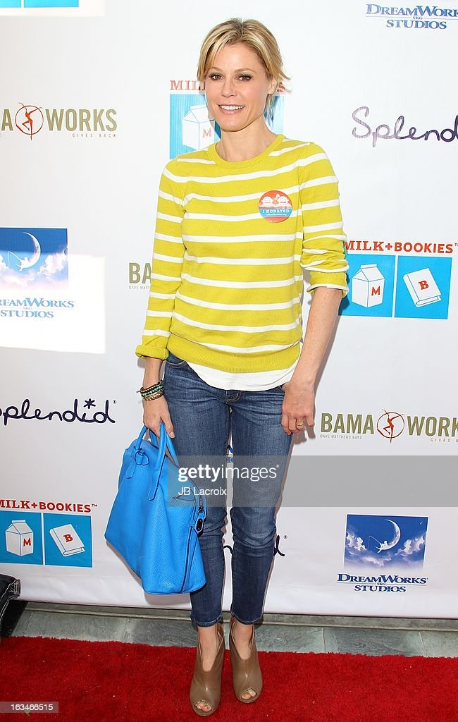 <a gi-track='captionPersonalityLinkClicked' href=/galleries/search?phrase=Julie+Bowen&family=editorial&specificpeople=244057 ng-click='$event.stopPropagation()'>Julie Bowen</a> attends the 4th Annual Milk + Bookies Story Time Celebration at Skirball Cultural Center on March 10, 2013 in Los Angeles, California.